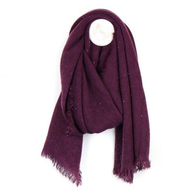 Mulberry Loose Weave Sequin Scarf