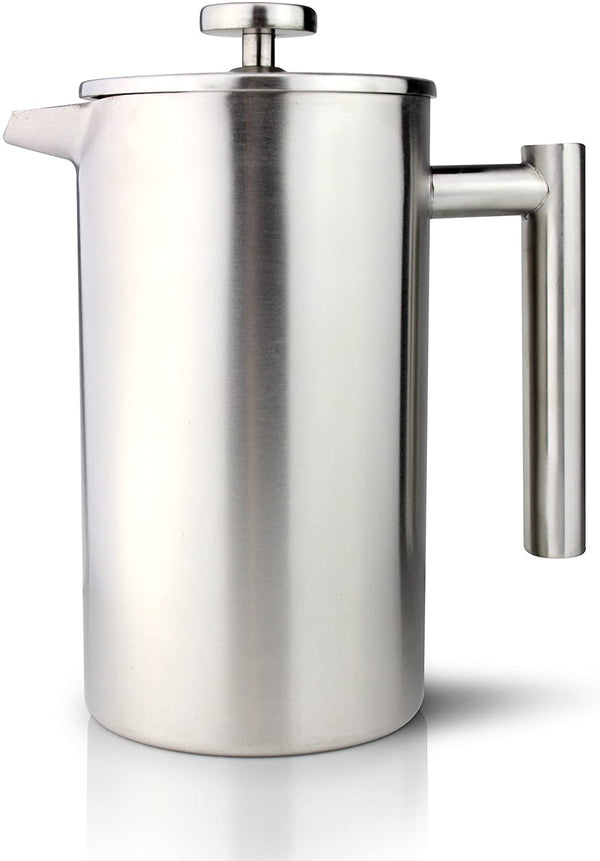 Cafe Ole 6 Cup Double Wall Cafetiere - Stainless Steel Satin Finish