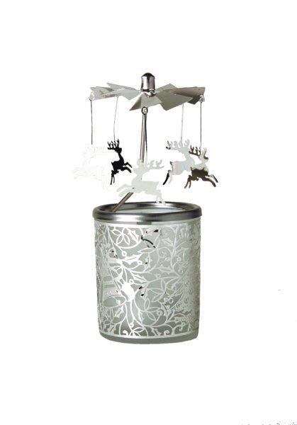 Reindeer Carousel Candle Holder