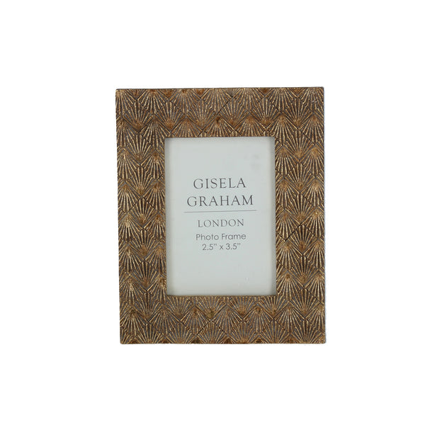 Gisela Graham - Gold Fan Effect Frame (2.5x3.5)