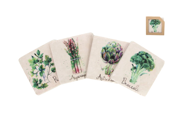 Gisela Graham - Vegetable Coasters (Set of 4)