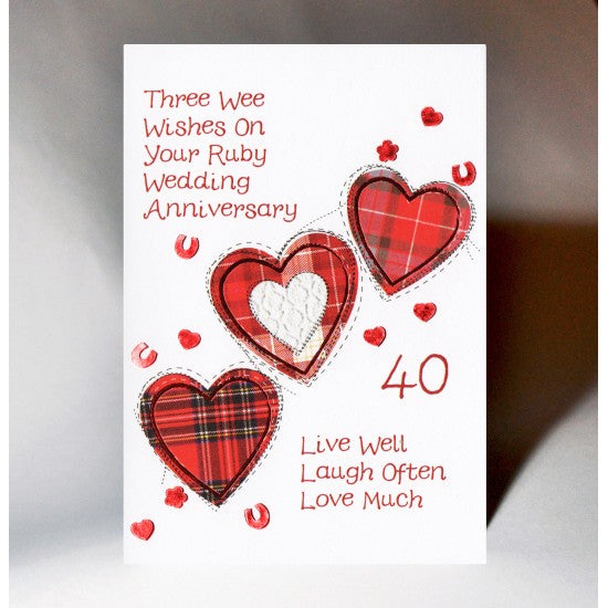 Wee Wishes - 40th Wedding Anniversary
