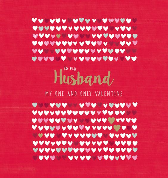 To My Husband Valentine's Card
