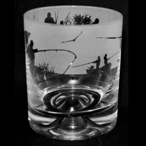 Fishing Whisky Glass