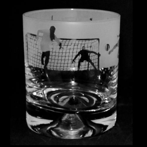 Football Whisky Glass