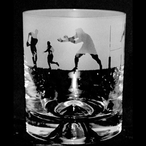 Rugby Whisky Glass