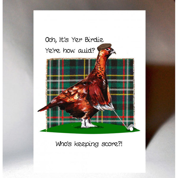 Och It's Yer Birdie Golf Birthday Card