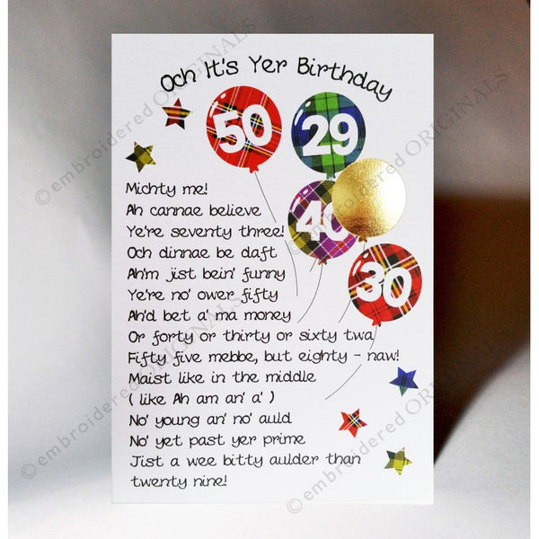 Och It's Yer Birthday Card