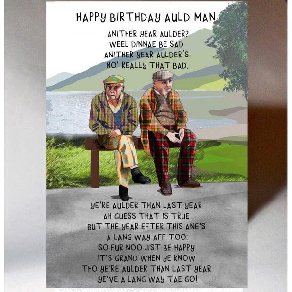 Auld Man Birthday Card