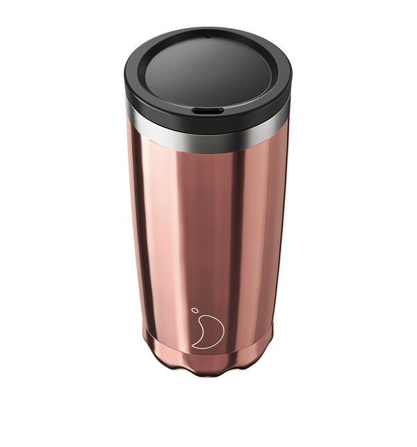 Chilly's Coffee Cup - Chrome Rose Gold (500ml)