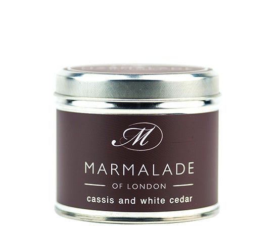 Cassis & White Cedar Medium Tin Candle