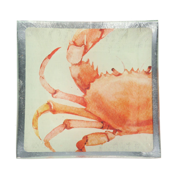 Gisela Graham - Small Crab Glass Plate