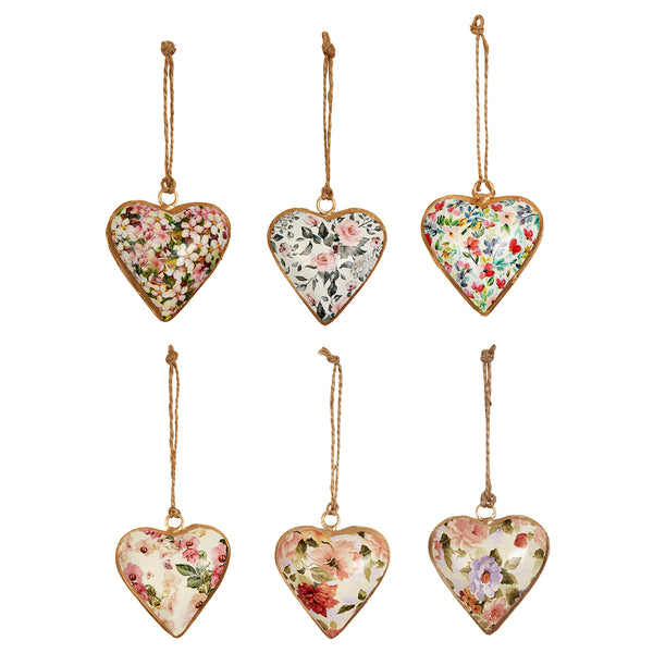 Floral Plump Heart Decoration