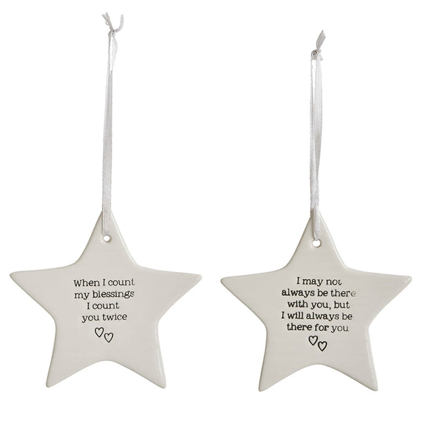 Ceramic Star Hanging Decoration