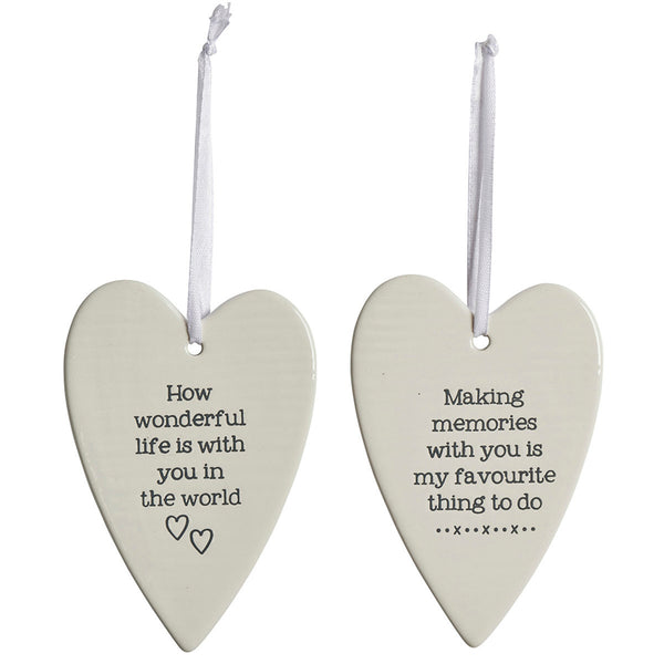 Ceramic Heart Decoration With Sentimental Quote