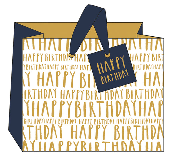 Happy Birthday Gift Bag- Landscape