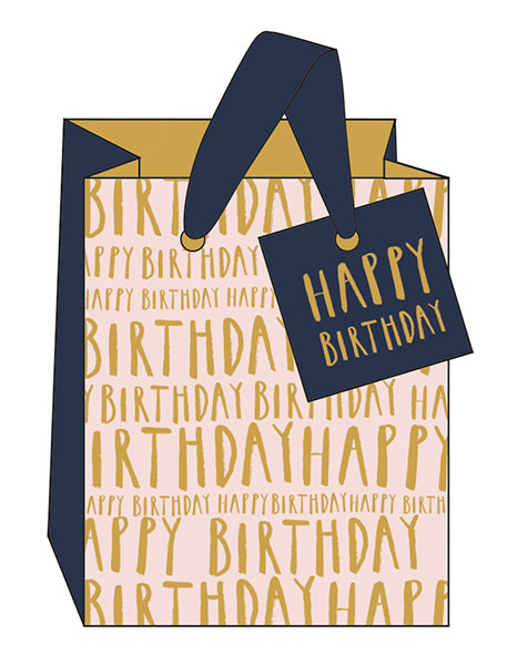 Happy Birthday Gift Bag- Small