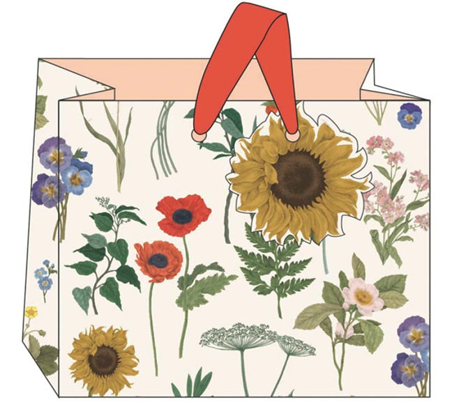 Sunflower Floral Gift Bag - Landscape