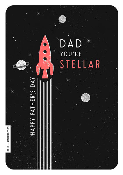 Dad You're Stellar Father's Day Card