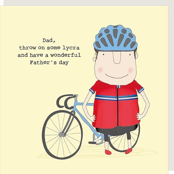 Lycra Dad Father's Day Card