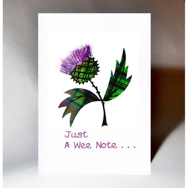 Just A Wee Note Thistle Card