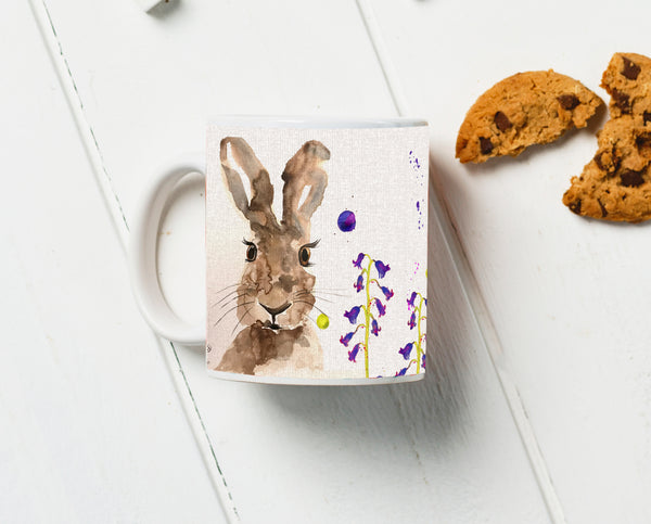 Hare Water Colour Mug
