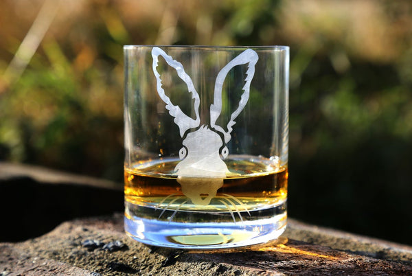 Hazel Hare Hand Etched Whisky Tumbler