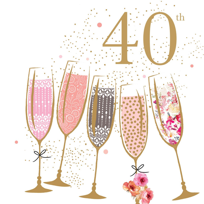 Happy Birthday - 40th Card