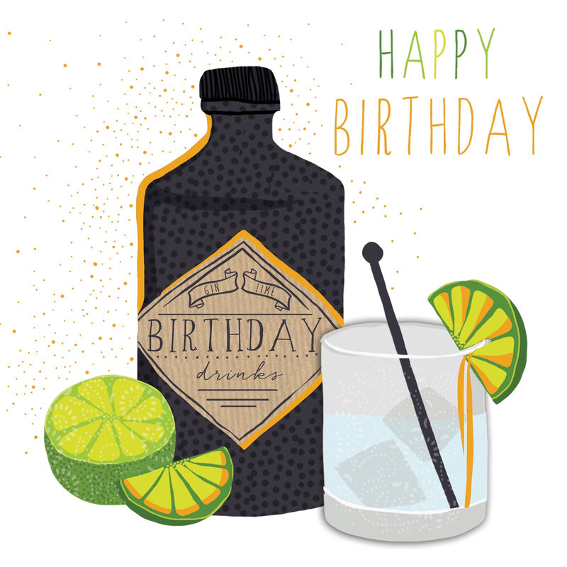 Happy Birthday, Gin Card