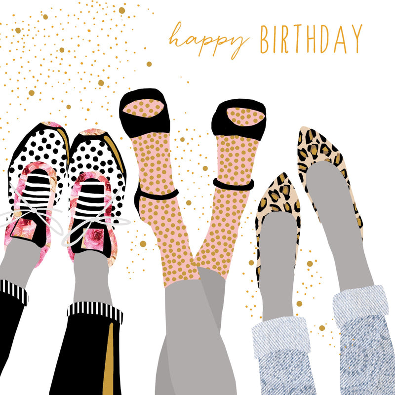 Happy Birthday - Shoes Card
