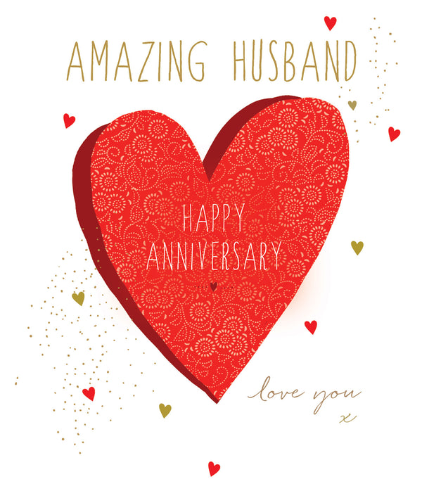 Amazing Husband, Happy Anniversary Card
