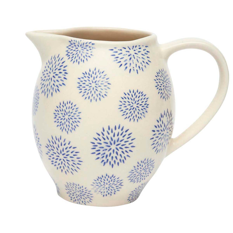Blue Dahlia Ceramic Jug