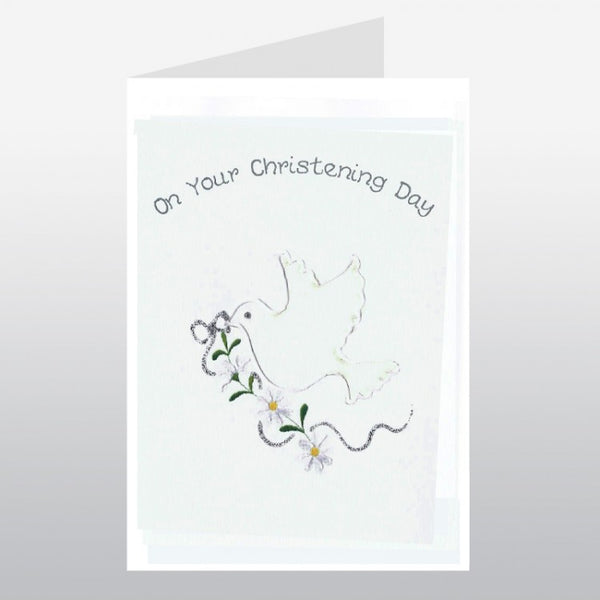 Dove Christening Card