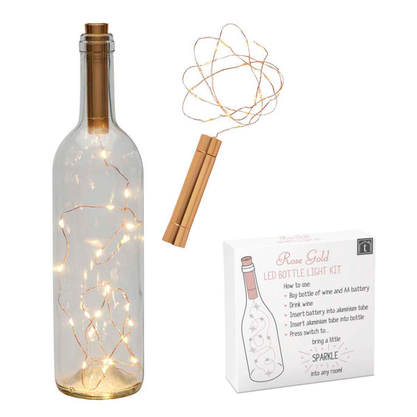 Rose Gold LED Bottle Light Kit