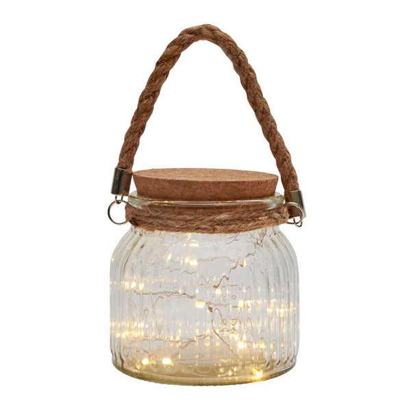 LED Fairy Light Jar, Clear
