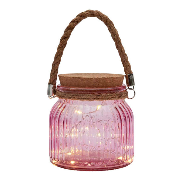 LED Fairy Light Jar, Pink