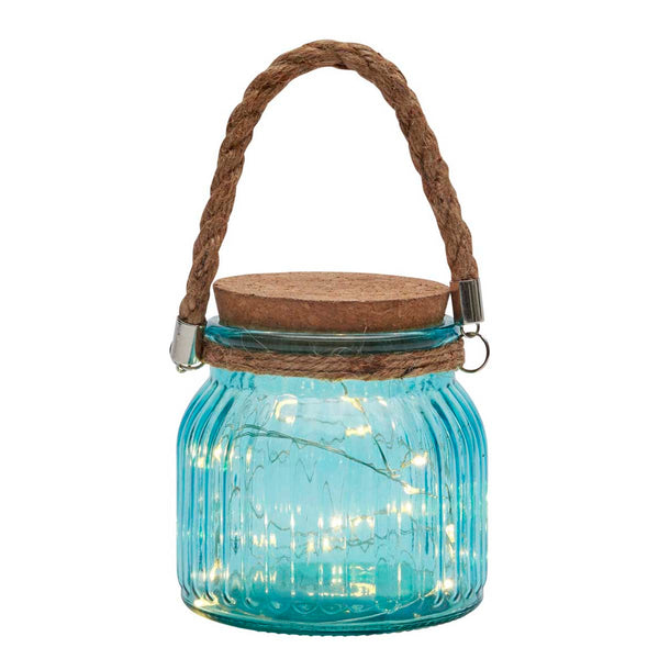 LED Fairy Light Jar, Blue