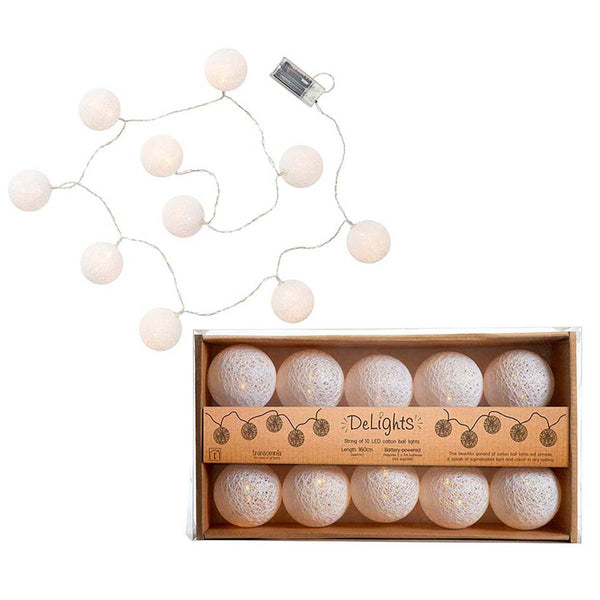 Delights LED Cotton Ball Lights