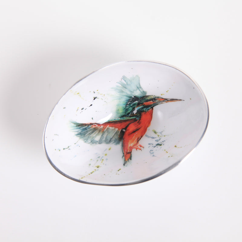 Small Oval Bowl - Kingfisher