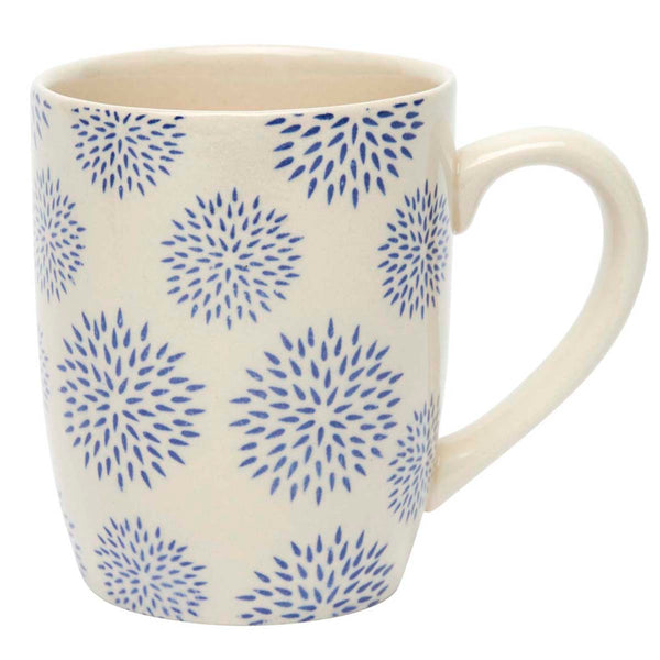 Blue Dahlia Patterned Mug