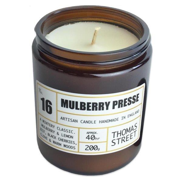 Mulberry Presse Glass Candle - 200g