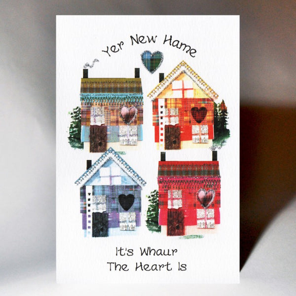 Four Hooses New Home Card