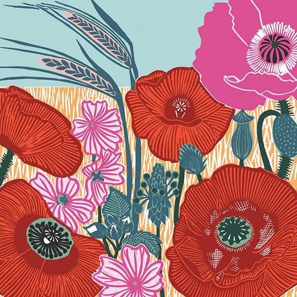 Wild Poppies Card