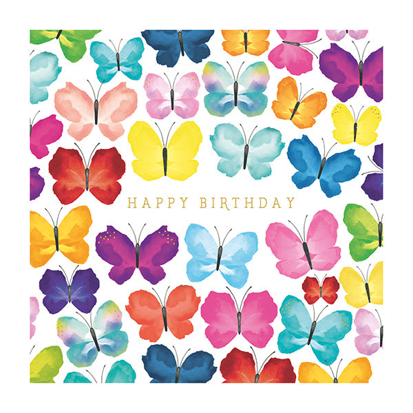 Happy Birthday with Butterflies Card