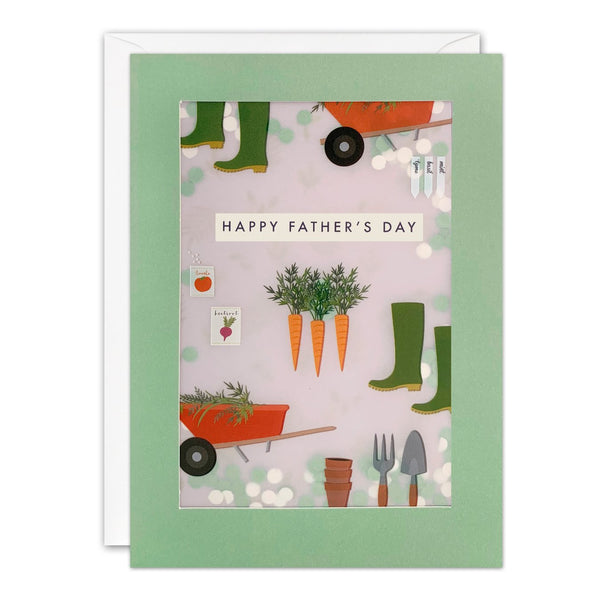 Dad Gardening Pattern Shakies Card