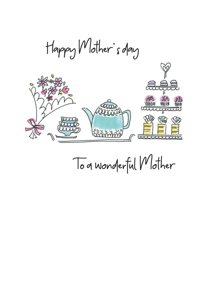 Wonderful Mother's Day Tea Card