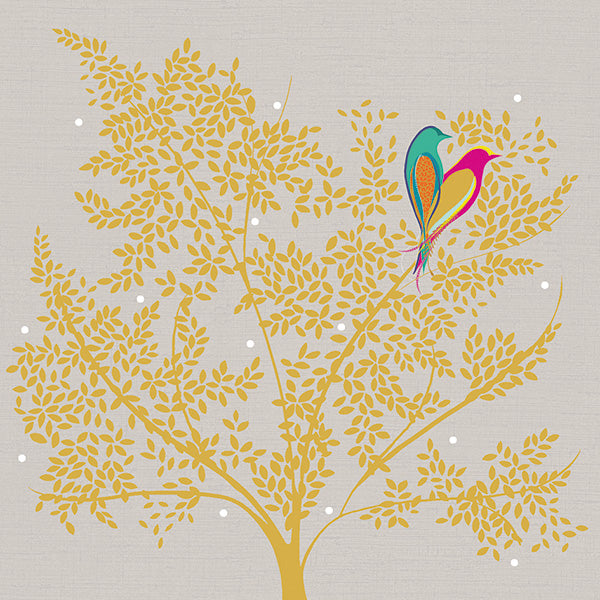 Love Birds In Tree Card