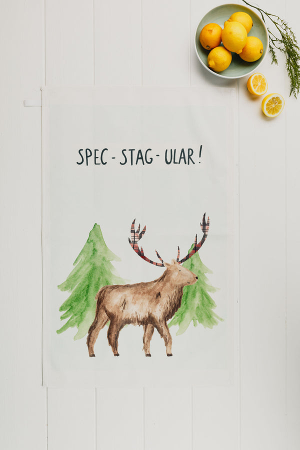 Spec- Stag- ular Tea Towel