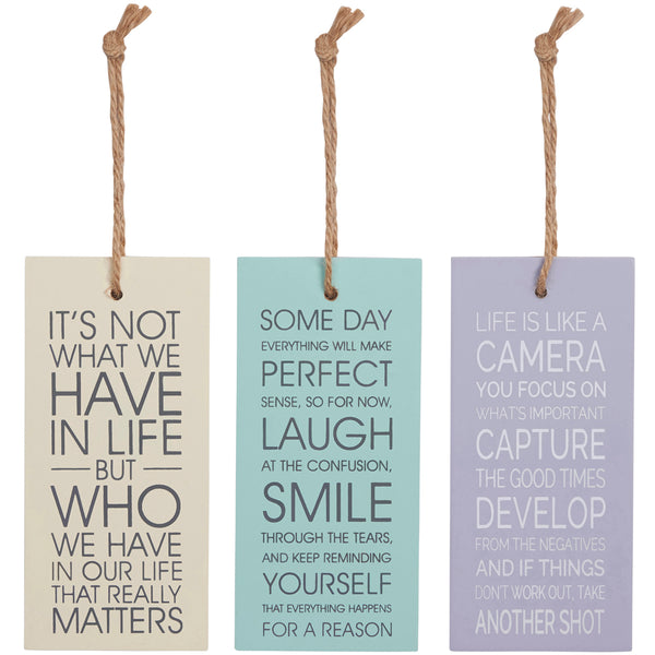 Inspirational Quote Hanging Decoration