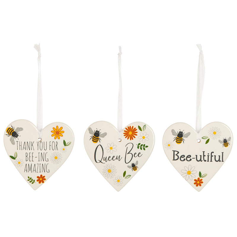Busy Bee Hanging Heart Decoration